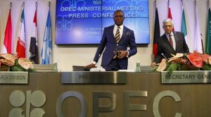 Nigeria's Minister of State for Petroleum at an OPEC meeting in Vienna